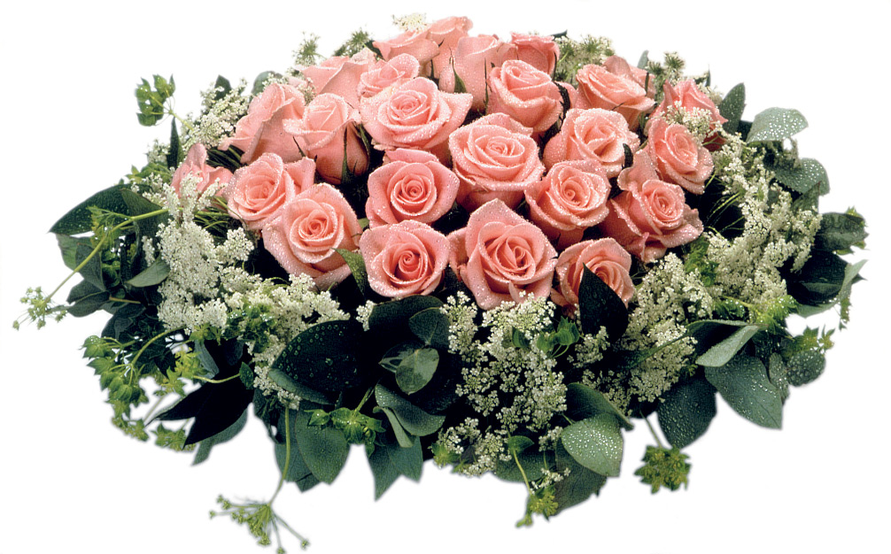 Table Arrangement of Pink Roses